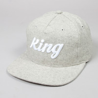 King Apparel - Script Pinch Panel Snapback - Beige Tweed