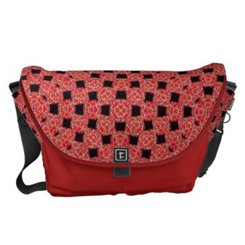 Watermelon Weave Pattern Red and Black Design Courier Bag