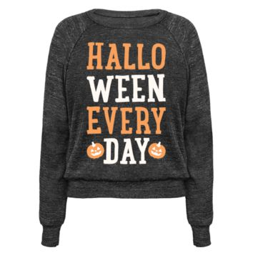 HALLOWEEN EVERY DAY (WHITE) PULLOVERS