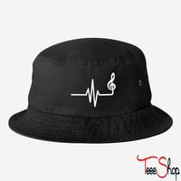 Frequency 2 bucket hat