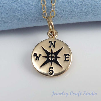 Compass Pendant Necklace, friendship pendant necklace, Graduation gift