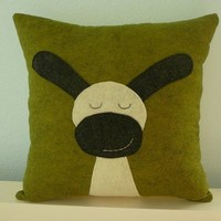 The Cutest Sheep Ever Pillow by OIive on Etsy