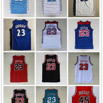 New #23 Space Jam Jersey Men Chicago #23 Basketball Jerseys 96 98 All Star TUNESQUAD Throwback North Carolina Bullets Michael Bulls jerseys