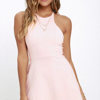 Soft Strumming Light Pink A-Line Dress