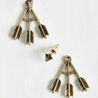 Boho Point of Attention Earrings in Gold by ModCloth
