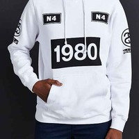 Stussy 1980 Stripe Pullover Hooded Sweatshirt-