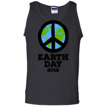 Earth Day 2018 Peace Sign Kids Adults Earthday T Shirt Tank Top