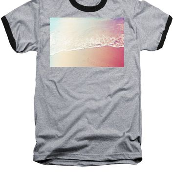 Ocean Air, Salty Hair, Watercolor Art By Adam Asar - Asar Studios - Baseball T-Shirt