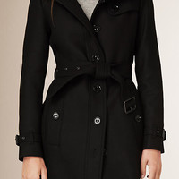 Virgin Wool Cashmere Blend Trench Coat