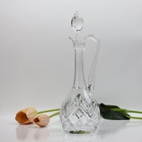 Saint-Louis French Crystal Decanter / Wine Decanter with Handle / Chantllly / Fine Barware