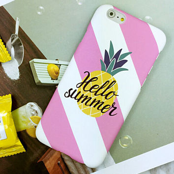 Unique Pineapple Case Cover for iPhone 6 6s Plus Gift 425