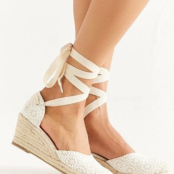 UO Espadrille Lace-Up Wedge | Urban Outfitters