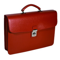 Royce Leather Kensington Single Gusset Laptop Briefcase in Genuine Leather