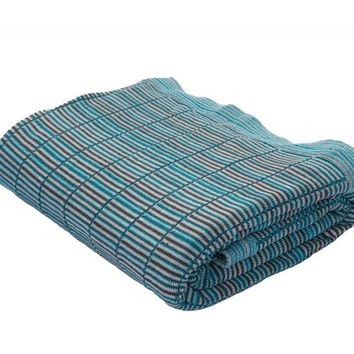 Oma Peacock Blue Throw