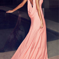 Drape Back Sleeveless Maxi Dress