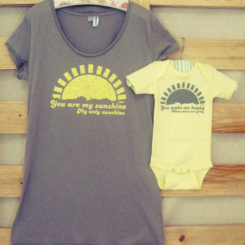 Mommy and Me Shirt Set: You Are My Sunshine (You Choose Size)