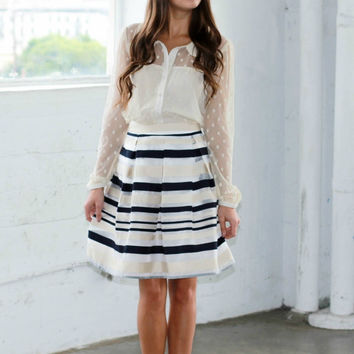 Striped 'Celebration' Skater Skirt