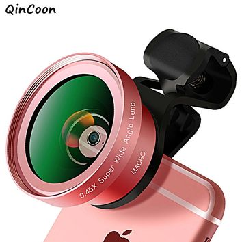 High Quality Large Aperture Phone Lens Super Wide Angle Macro Lens 52mmUV 0.45X Professional 2 in 1 Camera for Smartphone iphone