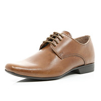 River Island Boys brown lace up smart shoes