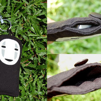 Spirted away iPhone 5 soft case fit with 4 4s 3 3gs black no face faceless hand paint