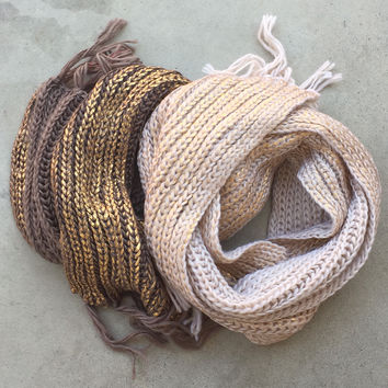 Cozy Knit & Sparkle Scarf