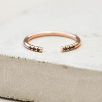Open Band - Rose Gold + Black