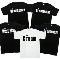 Groom And Groomsmen Shirts Grooms Party Gifts Bachelor Party Shirts Groom Shirt Best Man Shirt Groomsman T Shirt Wedding Party - SA312-313