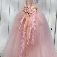 VictorianInspire Tulle Gown Quinceanera Gown by ElenaCollectionUSA