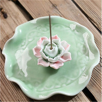 Ceramic Lotus Incense Stick Burners