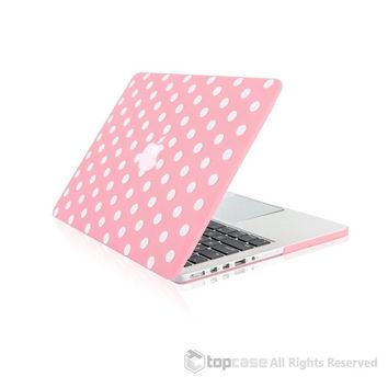 """Pink Polka Dot Design Ultra Slim Light Weight Hard Case Cover for Apple MacBook Pro 13.3"""" with Retina Display Model: A1425 and A1502"""