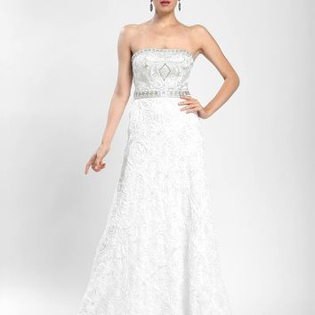 Sue Wong - Strapless Long Gown W3531