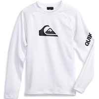 Boy's Quiksilver 'All Time' Long Sleeve Rashguard,