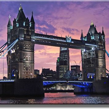 London Bridge Picture on Acrylic , Wall Art Décor, Ready to Hang!