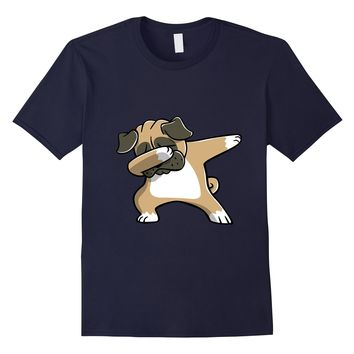 Dabbing Pug Funny Dog T Shirts - Birthday Party Gifts
