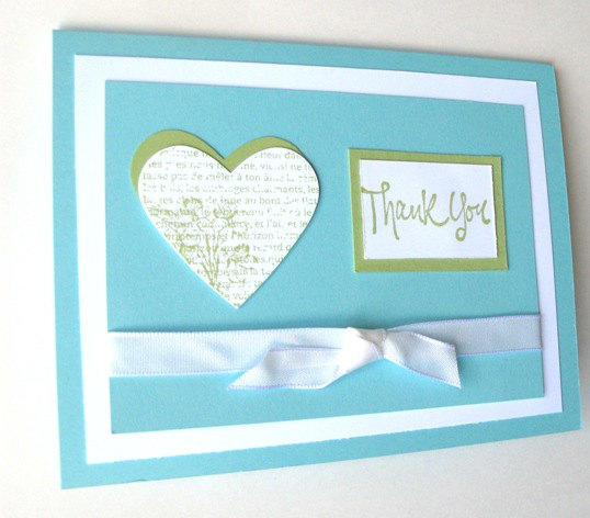 Handmade Thank You Wedding Gifts : Thank You Card Handmade Card Wedding Gift from klinwin Cards