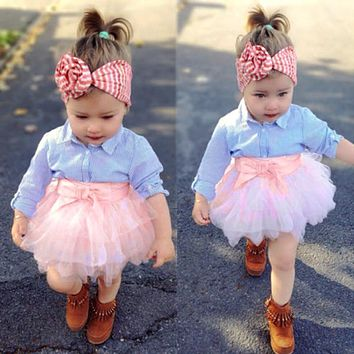 Navy & Pink 2-Piece Tutu Set
