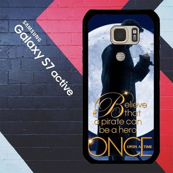 Once Upon A Time Captain Hook Believe F0542 Samsung Galaxy S7 Active Case