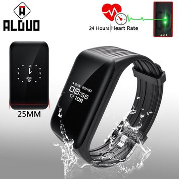 ALANGDUO K1 Fitness Tracker Smart Bracelet Heart Rate Monitor Waterproof Sports Bluetooth Wristband Big OLED Screen Smart Band
