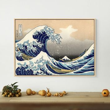 Japanese Style Traditional Posters Canvas Paintings Wave Kanagawa Wall Art Pictures For Living Room Study Room Morden Home Decor