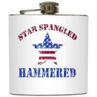 "Liquid Courage Flasks: ""Star Spangled Hammered"" - Cloyd Rivers Merica Flask"