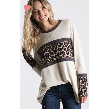 Oatmeal Leopard Block Top