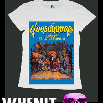Goosebumps exclusive hand print women t shirt 20425