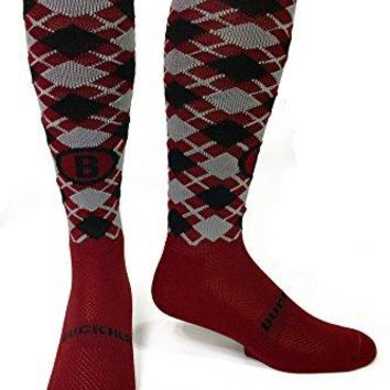 Buckner Skiing Socks Argyle Pattern with Synthetic Blend for Outdoors