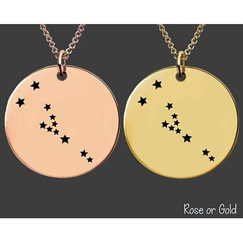 Taurus Constellation Necklace | Rose Gold or Gold Zodiac Necklace