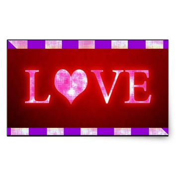 Love Rectangular Sticker