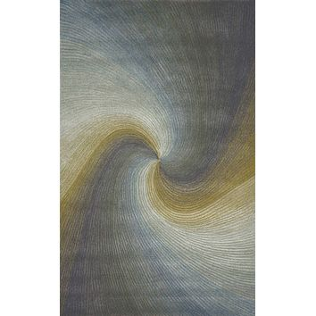 Trans Ocean Dunes Waves River Area Rug