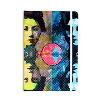 "Suzanne Carter ""Kimono Girl"" Yellow Blue Everything Notebook"