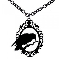 Handmade Gifts | Independent Design | Vintage Goods Raven Cameo Necklace - Jewelry - Girls