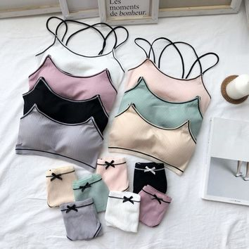 Stretch Bra and Brief Set