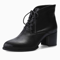 Heeled Lace Up Ankle Boots | Choies